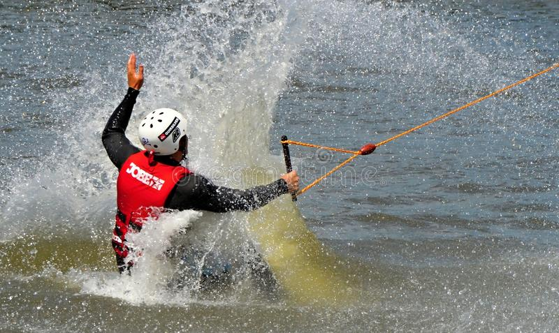 Wakeboarding royalty free stock photos