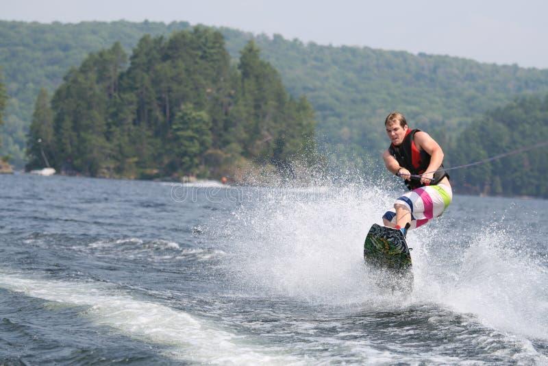 Wakeboarding selvaggio fotografie stock libere da diritti