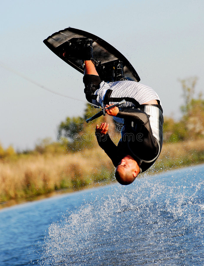 Free Wakeboarding Somersault Stock Images - 6617104