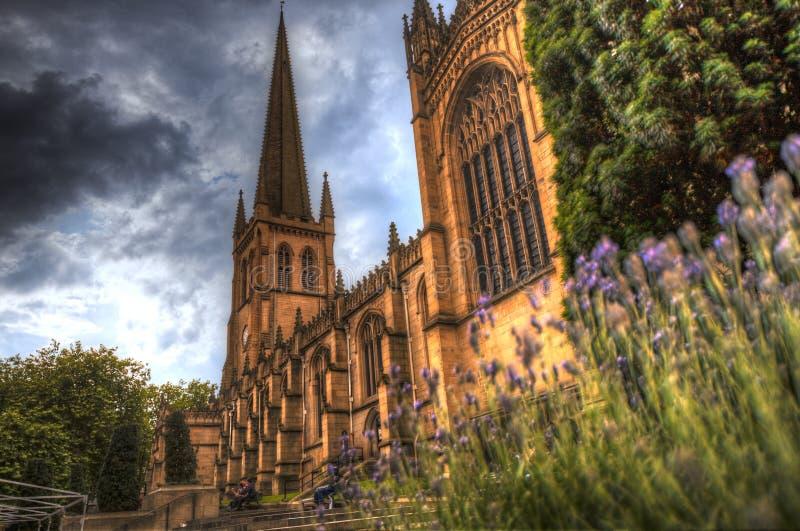 Wakefield Cathedral royaltyfri fotografi