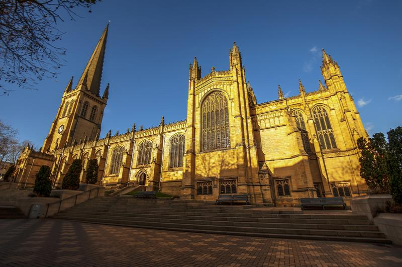 Wakefield Cathedral.Great Britain. royalty free stock photos