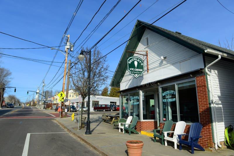 Wakefield, Kingstown du sud, RI image stock