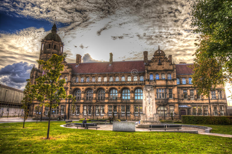 Wakefield. United Kingdom. County Hall in Wakefield. West Yorkshire stock images