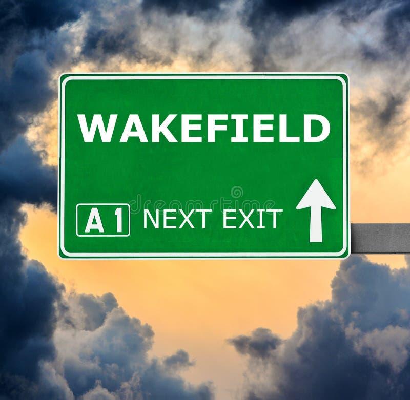 WAKEFIELD-v?gm?rke mot klar bl? himmel royaltyfri bild