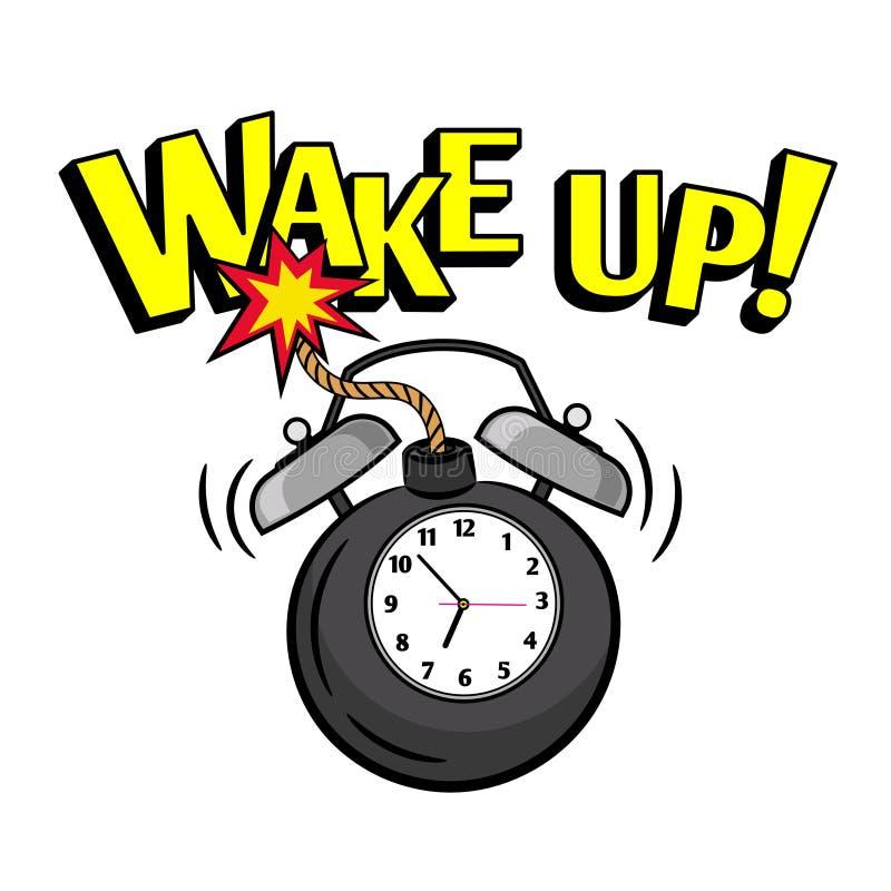 Wakeup bomby zegar ilustracji