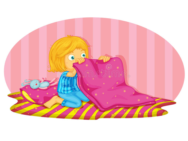 Download Waking up stock vector. Illustration of folding, female - 24321784