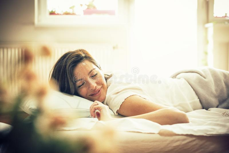 Waking up is hard to do sometimes. royalty free stock photos