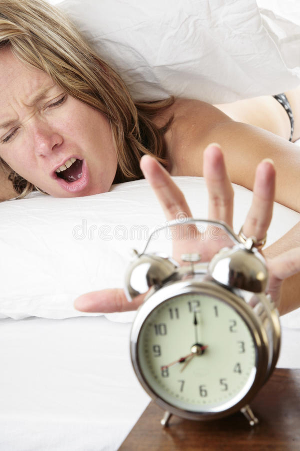 Waking Up Late royalty free stock photos