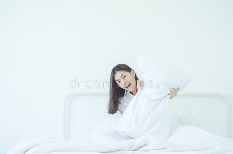 Waking up in the morning stock photos