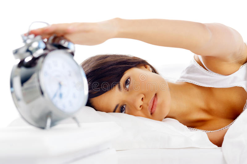 Download Waking up woman stock image. Image of lying, multiracial - 26259727