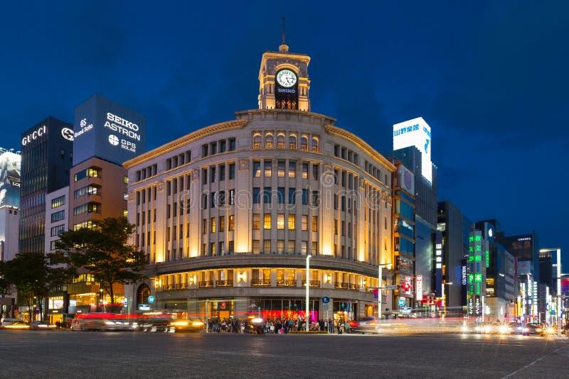 Wako百货大楼在银座-东京 免版税库存图片