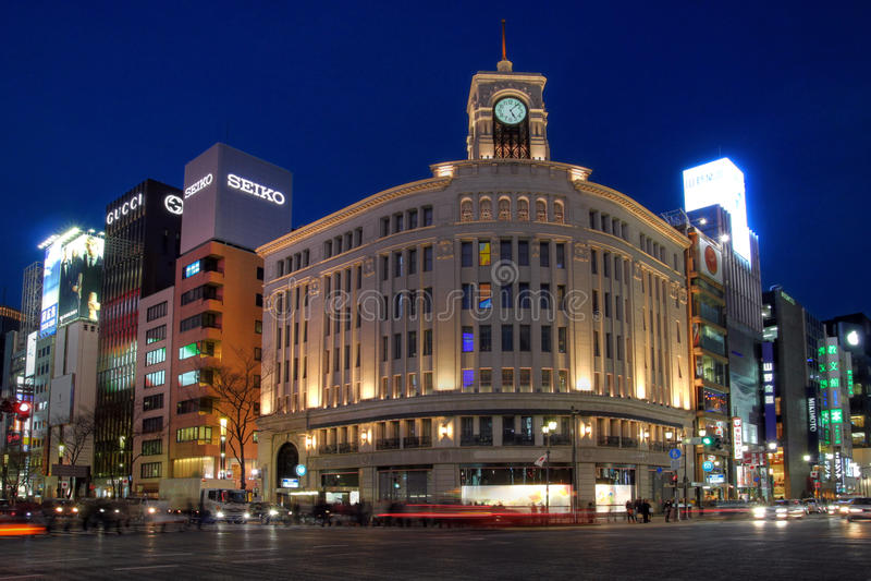 Wako Department Store in Ginza, Tokyo, Japan stock photos