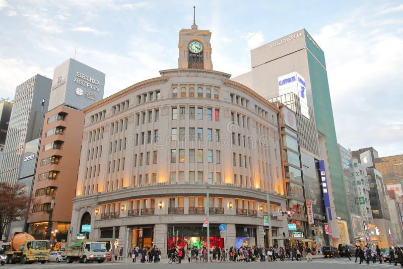 Wako historique construisant Ginza Tokyo Japon photographie stock