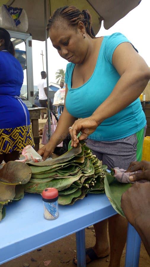 Wakye-Verkäufer in Accra stockfotografie