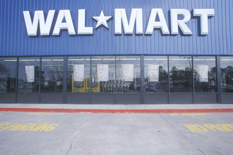 Wal Mart Supercenter Store front royalty free stock photos