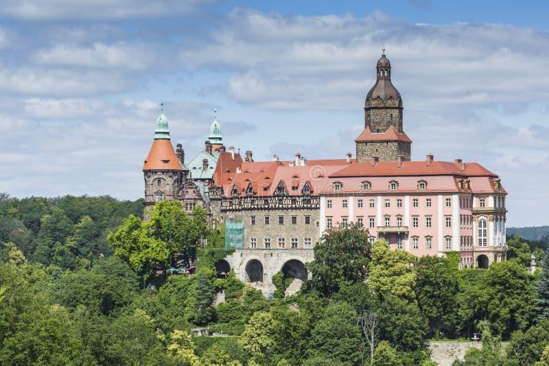 WALBRZYCH, POLONIA - 7 DE JULIO DE 2016: Castillo Ksiaz en Walbrzych, adentro foto de archivo libre de regalías