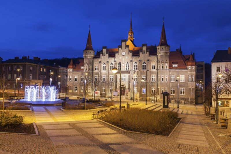 Walbrzych stadshus royaltyfri fotografi