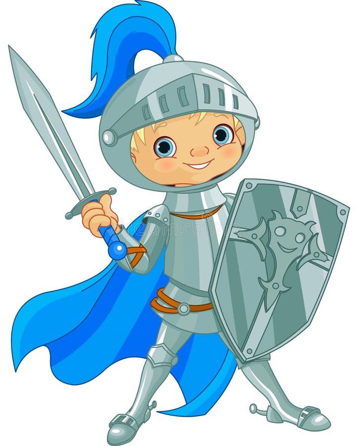 Walczący Odważny rycerz royalty ilustracja