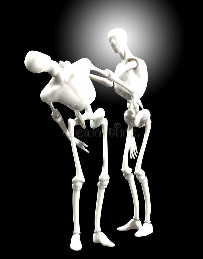 Download Walczący humanoids ilustracji. Obraz złożonej z walka - 22557399