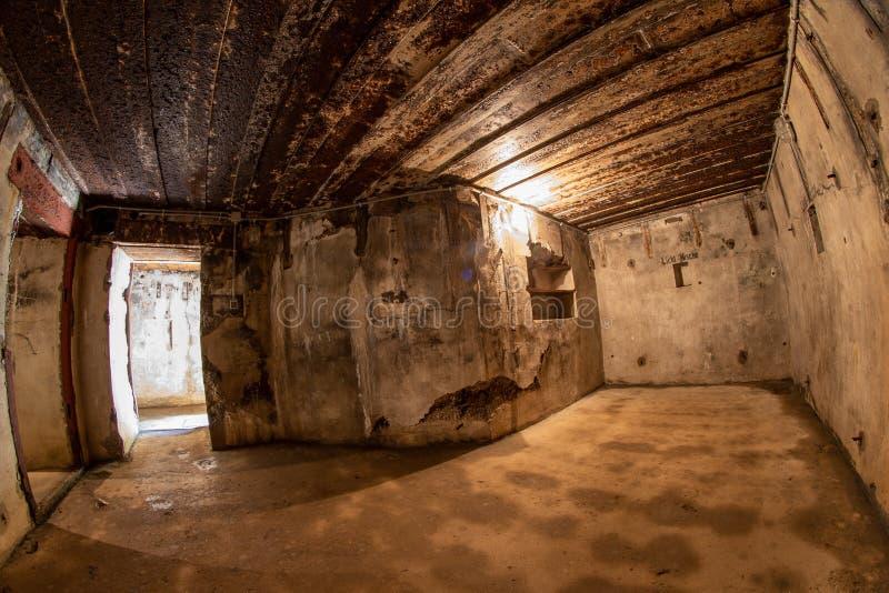 Walcz zachodniopomorskie/Polen - Maj, 24, 2019: Gamla tyska bef?stningar i Pomerania Frilufts- Wareg gruppBrickyard - fotografering för bildbyråer