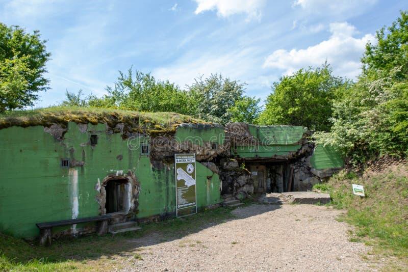 Walcz, zachodniopomorskie/Pologne - mai, 24, 2019 : Vieilles fortifications allemandes dans Pomerania Briqueterie de groupe de Wa image stock