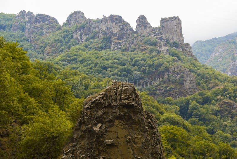 Wald und Felsen in Sjunik-Provinz Armenien lizenzfreie stockfotografie