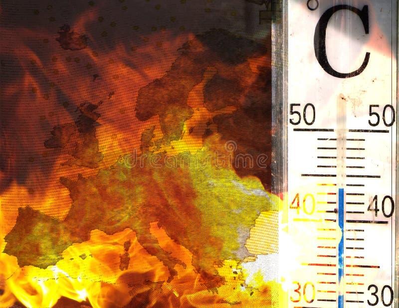 Waldbrände in Europa stock abbildung