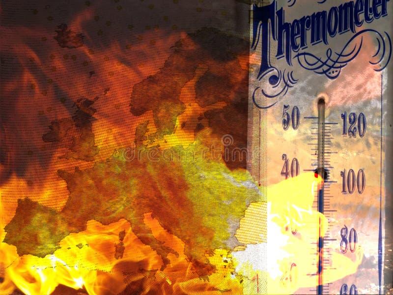 Waldbrände in Europa vektor abbildung