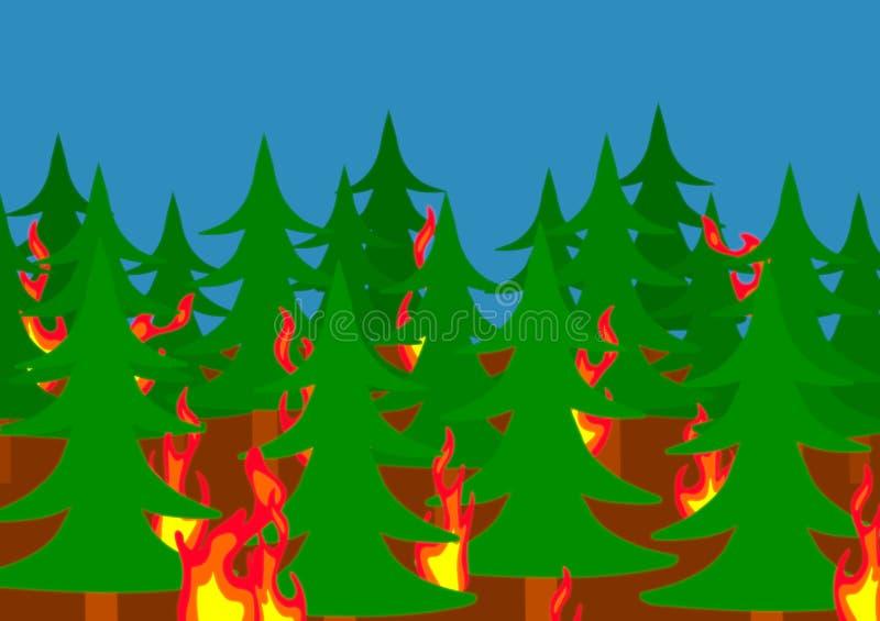 Waldbrand lizenzfreie abbildung