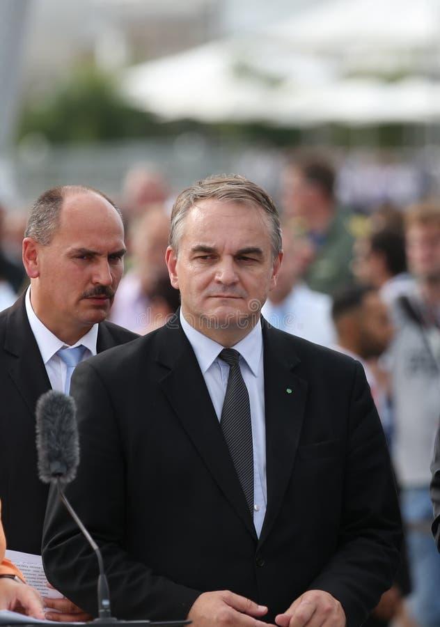 Waldemar Pawlak, viceprimer ministro Polonia imágenes de archivo libres de regalías