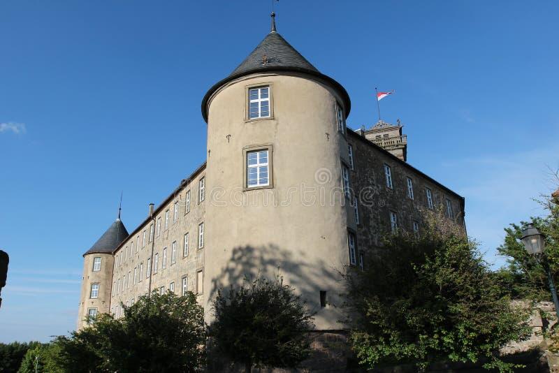 Waldenburg con il castello immagini stock