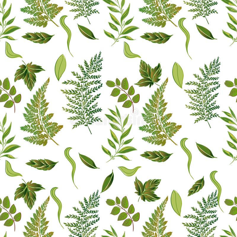 Waldgrasartiges nahtloses Muster stockbild
