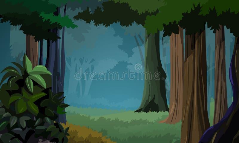 Waldhintergrund lizenzfreie abbildung