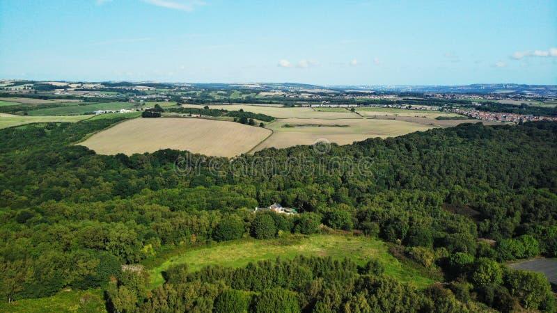 Waldidge caiu charneca, terra de exploração agrícola, paisagem, céu chester le rua Reino Unido fotos de stock royalty free