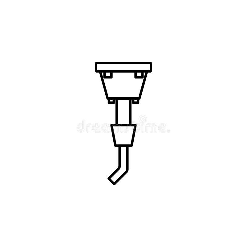 walding ikona Element produkci ikona dla mobilnych pojęcia i sieci apps Cienka kreskowa walding ikona może używać dla sieci i wis ilustracji