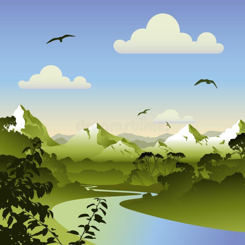 Waldlandschaft vektor abbildung