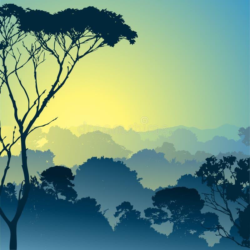 Waldlandschaft stock abbildung