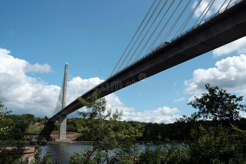 Waldo bridge stock images