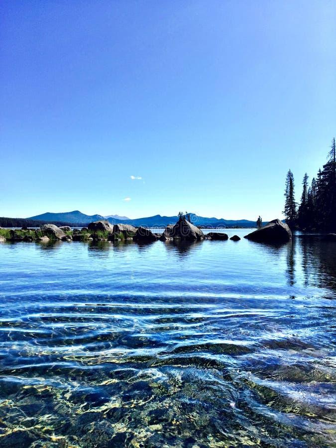 Waldo jezioro W Oregon fotografia royalty free