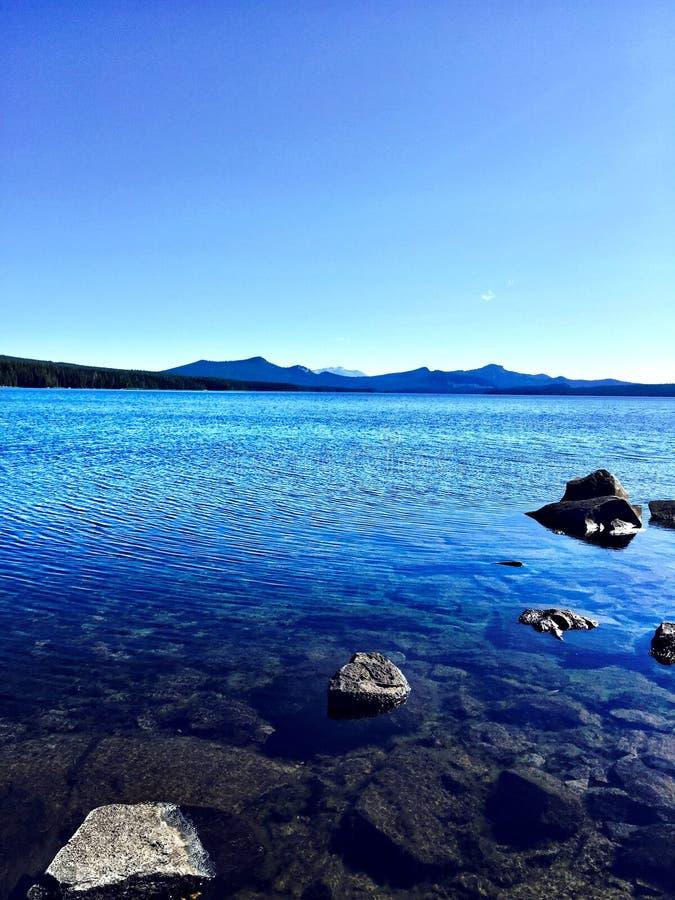 Waldo Lake In Oregon image stock