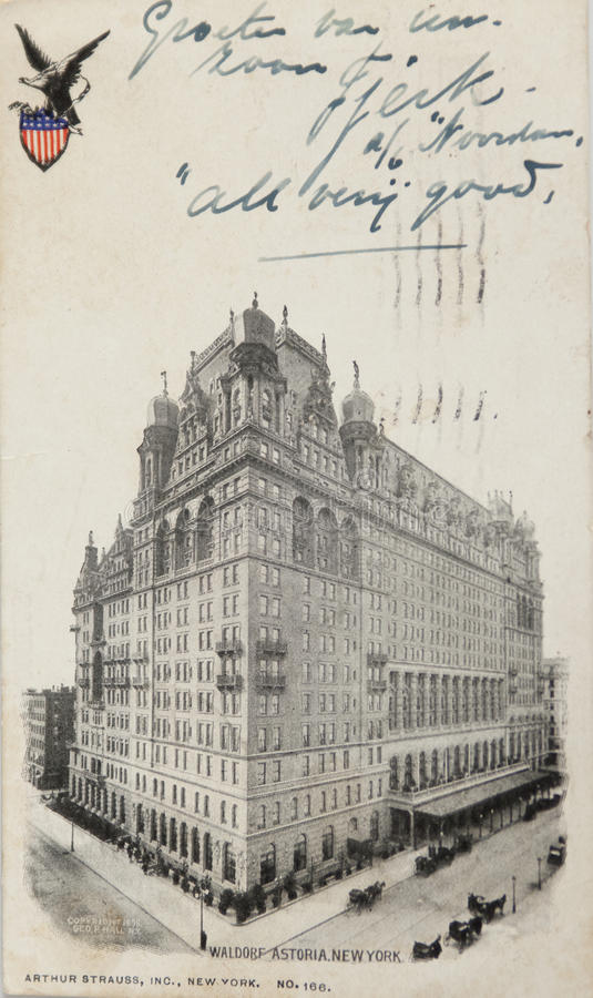 Waldorf Astoria hotel stock photos