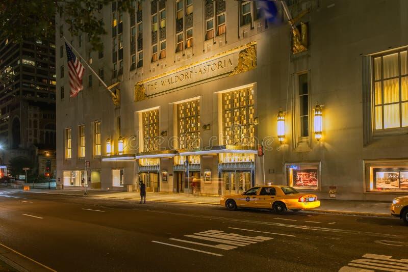 Waldorf Astoria hotell arkivbild