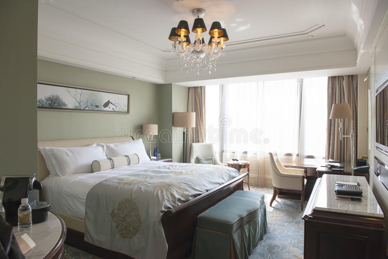 Waldorf Astoria Szanghaj luksusu pokój obrazy stock