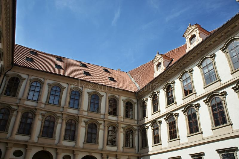Waldstein pałac w Mala strana, Praga - senat obrazy royalty free