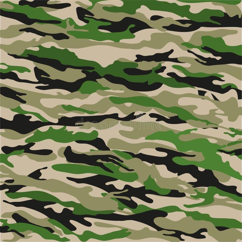 Waldtarnungs-Hintergrund im Grün Auch im corel abgehobenen Betrag vektor abbildung