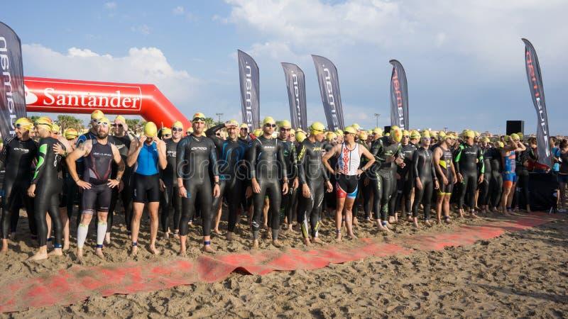 Walencja Santander Triathlon zdjęcia royalty free