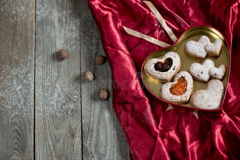 Walentynek babeczki z dżemem obrazy royalty free
