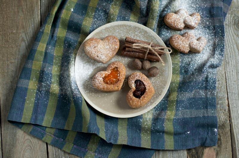 Walentynek muffins zdjęcia stock