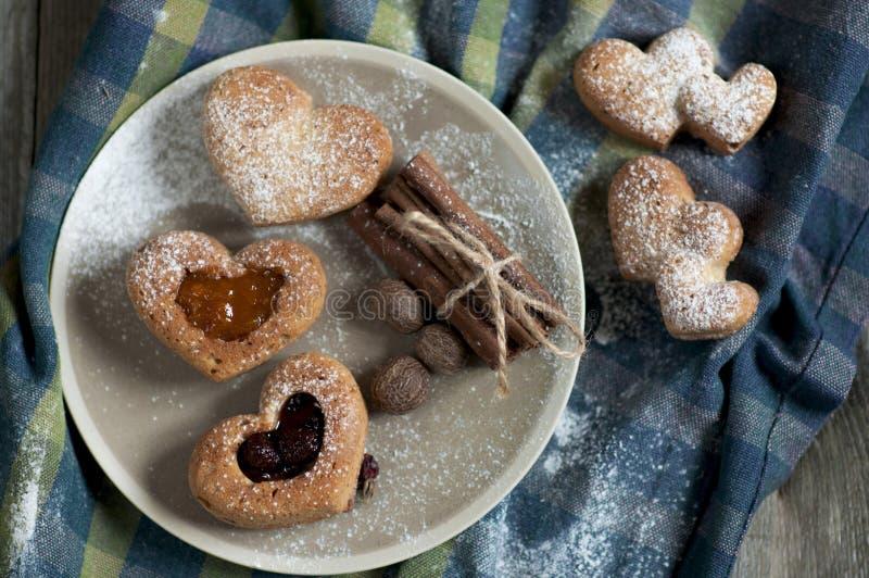 Walentynek muffins fotografia stock