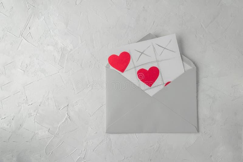 Walentynek powitań handmade karta zdjęcie stock